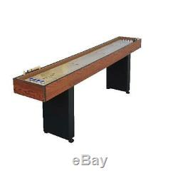 9ft Shuffleboard Table Arcade Jeu Solide Butcher Block Bois Retro Vintage Pub