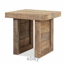 Accueilrottes 19.7 Block Boucher Moderne Bout En Bois Massif Ou Table Latérale En Naturel