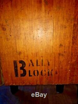 Antique Bally Bois Butcher Block