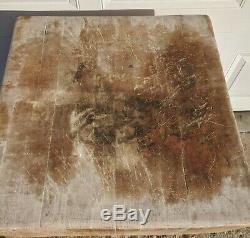 Antique Butcher Block En Érable Massif 24x24x32 8 Bloc Vtg Rustique Véritable