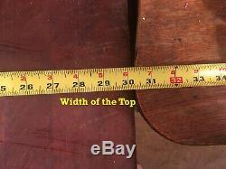 Antique Butcher Block Table The Real Deal 30x30x15 Plus Un Crochet
