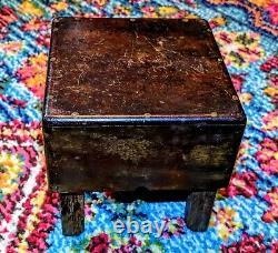 Antique Début Des Années 1900 Butcher Block Wood Table Apprentice Piece/salesman Sample