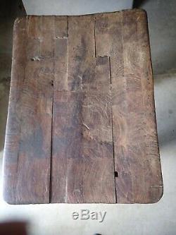 Antique Érable Butcher Block Table