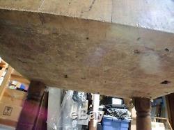 Antique Maple Butcher Block Wood Block Et Soudé Petoskey Manufacturing Co