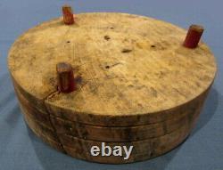 Antique Primitive Tuk-away 13 5/8 Bread Cutting Board Butcher Block Brenham Tx