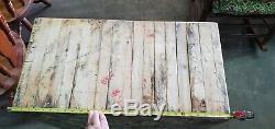 Antique Vintage Butcher Block Hardwood Jambes Pas De Bois D'érable 30 X 16