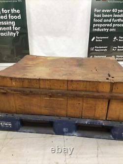 Antique Vintage Solid Wood Butcher Block 41.5 X 31 X 13 Épais