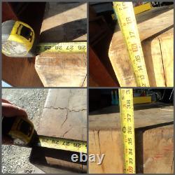 Antique Vtg Butcher Block Island Butcher Hardwood 30 X 30 X 36 Personnalisé Stand