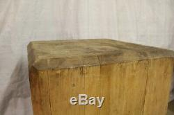 Antiquité Bally Table De Cuisine En Bois De Boucher De Charcuterie En Bois