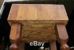 Attachement De Couteau De Côté De Couteau De Table De Découpage De Bloc De Boucher En Bois Antique 24x 24