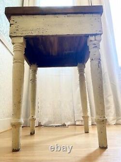 Bâton De Boucher Antique Ancienne Table Shabby Chic Redwood Primitif 23w