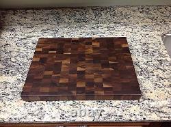 Black Butcher Block Coupe Board Nouveau Grain Fin 12 X 18 Sap Pattern