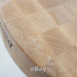 Bloc À Découper John Boos Wal-ccb183-r Classic 18 Morceaux En Bois D'érable Rond
