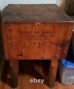 Bloc Antique De Boucher De Magasin De Philadelphie Plus De 100 Ans