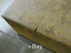 Bloc Boucher De Travail Tableau 3' X 3' X 33, Utilisé Dans La Machine Magasin Seulement Pickup