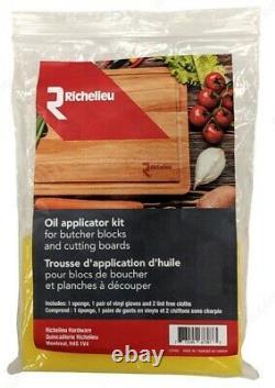 Bloc De Boucher Coupe-grain Extra Large 18 X 2 Pouces Canadien À L'extrémité Ronde De L'érable