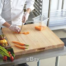 Bloc De Planche À Découper Plein Pour Restaurant Commercial En Bois, 24 X 24 X 1 3/4 En Bois