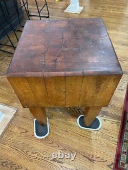 Bloc Du Boucher Antique Tableau 32x24x24