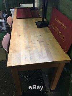 Bloc Industriel Anciennes Butcher Lab École Table De Travail Bureau 24x72x31