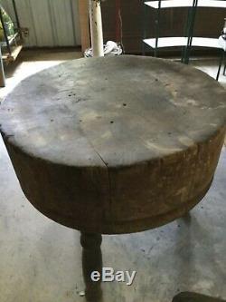 Boucher Antique En Bois Table Bloc