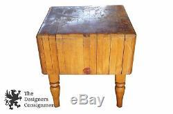 Boucherie De Charcuterie Soudée En Bois Antique Découpant La Viande Découpant La Table En Érable
