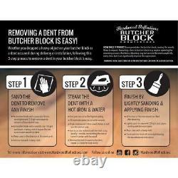 Butcher Block Countertop 6 Pi 2. L X 2 Pi 1. D X 1,5. T Bois Massif