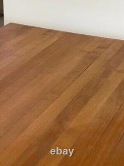 Butcher Block Dinning Table With Steel Hair Pin Legs -local Pickup Only