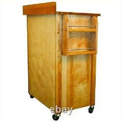 Catskill Artisans Deluxe Butcher Block Kitchen Cart Armoires Casters Tiroirs