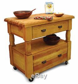 Catskill Craftsmen, Inc. Îlot De Cuisine Avec Dessus En Bloc De Boucher Kl1198