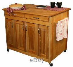 Catskill Craftsmen, Inc. Îlot De Cuisine Avec Dessus En Bloc De Boucher Kl1230