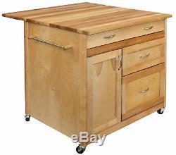 Catskill Craftsmen, Inc. Îlot De Cuisine Avec Dessus En Bloc De Boucher Kl1296