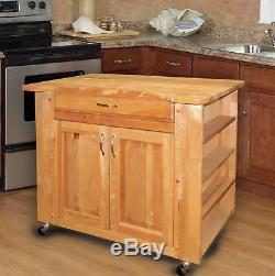 Catskill Craftsmen, Inc. Îlot De Cuisine Avec Dessus En Blocs De Boucher Kl1044