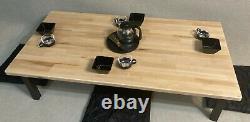 Chamudai Table À Manger Japonaise Table À Manger Basse Salle À Manger Bloc Boucher De Table
