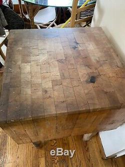 Collection Vintage Solide Butcher Block Table 23 X 23 X 31 De Hauteur
