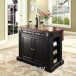 Crosley Furniture Abattants Petit Déjeuner Bar Top Kitchen Island En Finition Noire