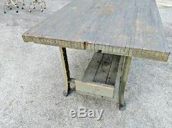 Cuisine Industrielle Île / Table. 2 3/4 '' Bois Épais. Butcher Block Table De Travail
