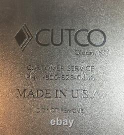 Cutco #1652r Set De Signature Couteau À Lot De 24 Blocs / Finition Cerise Bâton De Boucher De Chêne