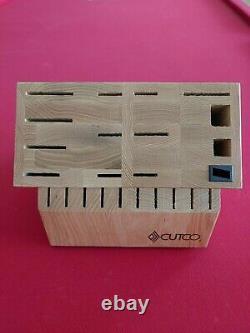 Cutco Set De Signature 24 Slot Chêne Solide De Stockage De Bois Knife Block USA Made