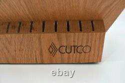 Cutco Signature 24 Fente En Bois De Chêne Bloc De Stockage De Couteau Fabriqué Aux États-unis Boucher