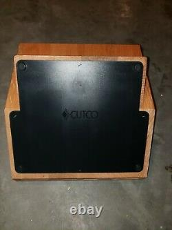 Cutco Signature 24 Fentes Trous Solide Oak Wood Knife Storage Butcher Bloc Titulaire