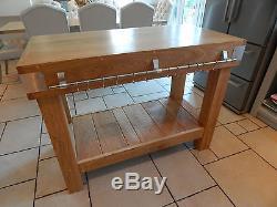 De Grands Bouchers English Oak Bloquent La Cuisine, Ilot De Table, Mobilier De Rangement Rustique