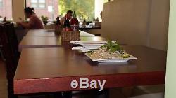 Dessus De Table En Bois Massif De Boucher De Restaurant 1.75 'd'épaisseur 36x36 Naturel Mahagony