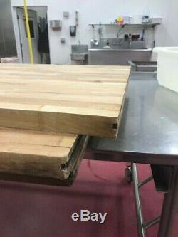 En Bois Massif Butcher Block Comptoir Ou De Dessus De Table 36 W X L 96 X 1 1/2 T