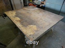 Érable Vintage 54 X 64 Butcher Block Bench Top W / 4 7 Vises Pu Seulement 18405