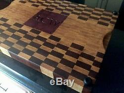 Fait À La Main Personnalisée XL Butcher Block Fin Grain Board De Coupe 20x 26 X 2