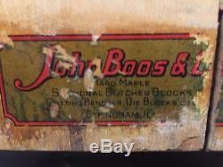 Grand Bloc De Coupe (john Boos) Antique 35 X 30 Hard Rock Maple (avec Les Jambes)