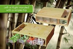 Grande Planche À Découper En Bambou Avec Plateau / Tiroir En Bois Avec Bloc À 4 Tiroirs
