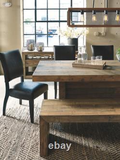 Grande Table À Manger Rustique Récupérée Boucher En Bois Block Kitchen Distressed Brown