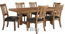 Grande Table De Salle À Manger Rustique Étendant La Cuisine En Bois De Bloc De Boucher En Détresse Brune