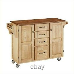 Home Styles Create-a-cart In Natural Finish With Oak Top